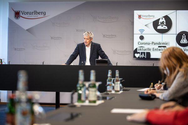 Landessanitätsdirektor Wolfgang Grabher. VLK/sams