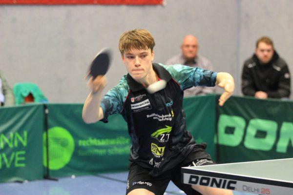 Maxime Dieudonné konnte gestern mit 3:1 gewinnen und den Aufstieg damit früh sichern. UTTC Kennelbach