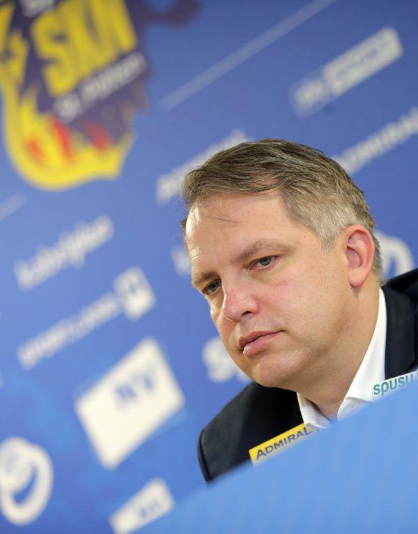 SKN-General-Manager Andreas Blumauer stellte gestern den Deal mit Wolfsburg vor. GEPA