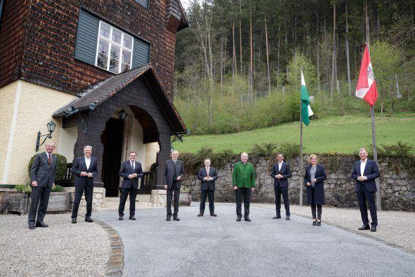 Treffen im Rahmen der LH-Konferenz in Mürzsteg.APA