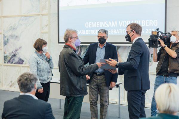 Übergabe des fünften Integrationspreises.Stadt Feldkirch/Sams