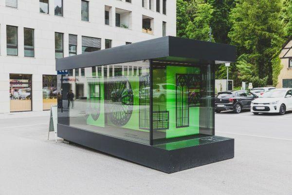 Andrea Gassner bespielt die Kunstbox am Jahnplatz.Stadt Feldkirch