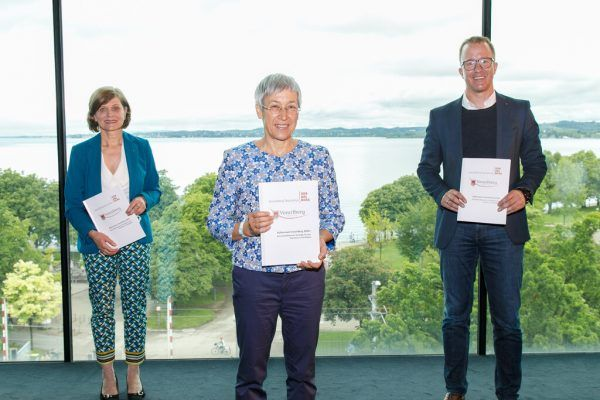 Barbara Schöbi-Fink, Eva Häfele und Christian Gantner (v.l.).VLK/Hofmeister