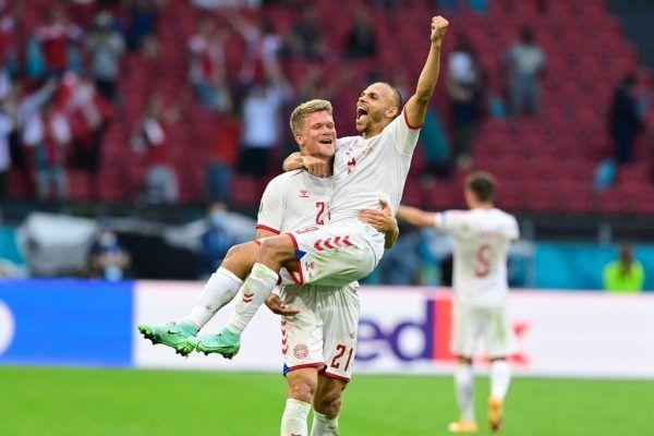 Die Dänen jubelten über den Einzug ins Viertelfinale.apa