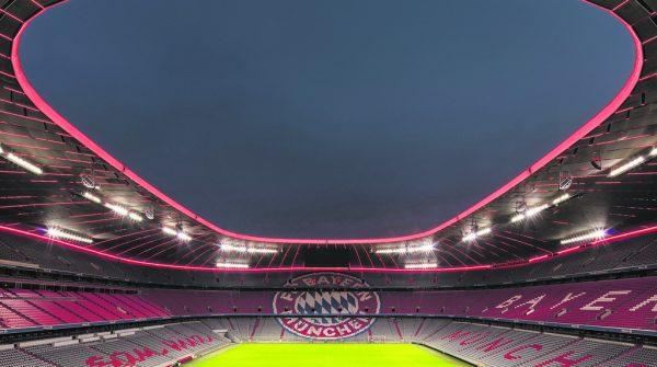 Die Umsetzung der neuen Stadionbeleuchtung der Allianz-Arena konnte im Geschäftsjahr 2020/2021 abgeschlossen werden.Zumtobel