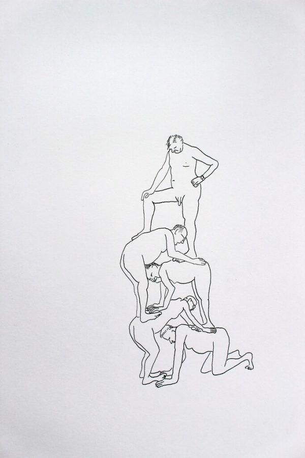 Eine der Zeichnungen aus der neuen Serie.
