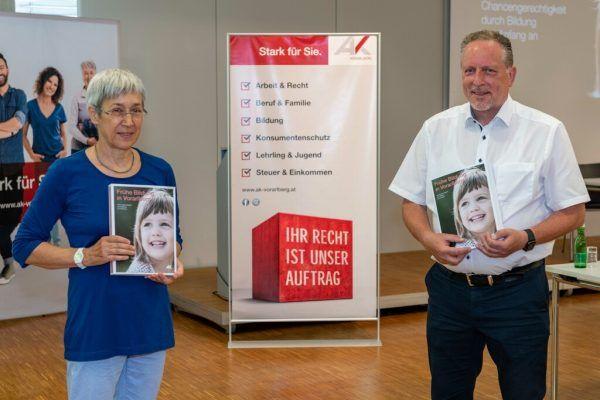 Eva Häfele und Hubert Hämmerle präsentierten die Studie.Jürgen Gorbach