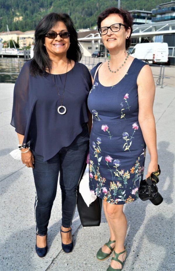 Fotografin Fatima Lopez (l.), Sprachcoach Nathalie Chollet.