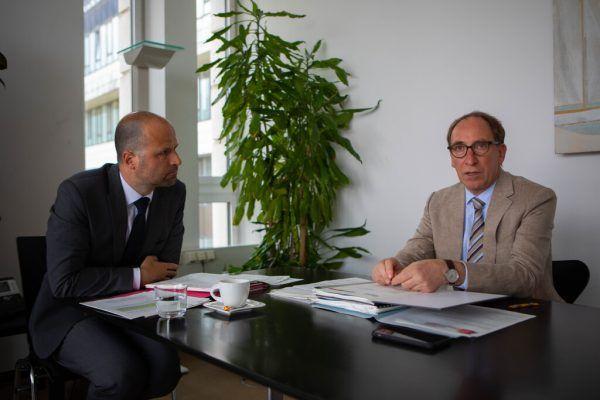 Landesräte Johannes Rauch (r.) und Marco Tittler im NEUE-Interview. hartinger (3)
