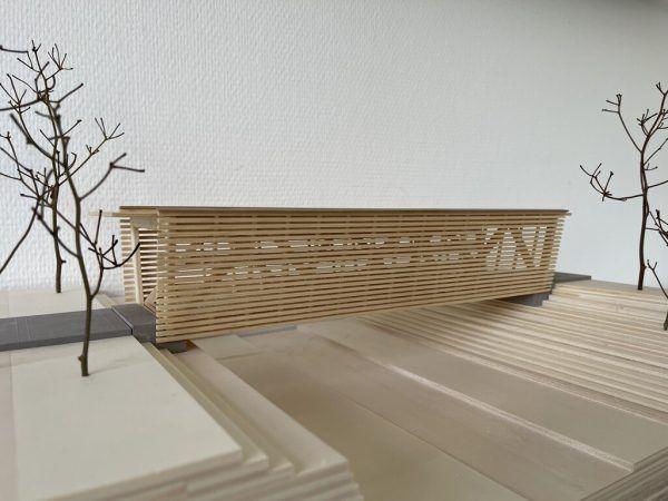 Modell der von der HTL Rankweil konstruierten Brücke. HTL