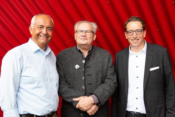 V.l.: Neo-Vizepräsident Manfred Böhmwalder, Präsident Karlheinz Hehle und Geschäftsführer Urs Treuthardt.Roswitha Schneider