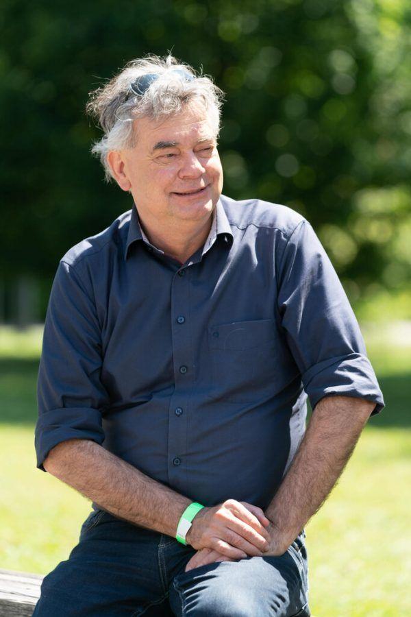 Werner Kogler beim Interview in Feldkirch.Dietmar Stiplovsek