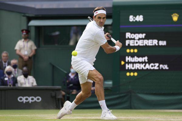 Am Ende musste Federer eine klare Niederlage hinnehmen. ap