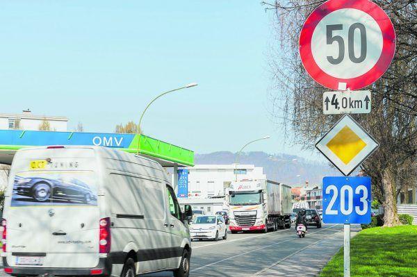 Auf den Landesstraßen in Lustenau gilt derzeit noch Tempo 50.Stiplovsek, FPÖ, Marktgemeinde Lustenau