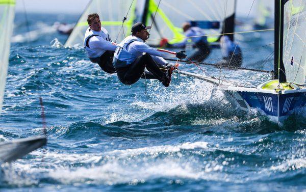 Bildstein/Hussl wollen sich beim Start steigern. © Sailing Energy/World Sailing