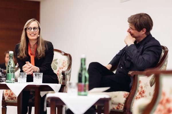 Daniel Kehlmann mit Nicola Steiner. Literaricum lech/Christoph Schöch