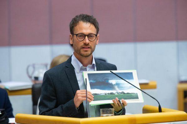 Daniel Zadra machte mit Fotos auf die Auswirkungen des Klimawandels aufmerksam.Klaus Hartinger (2)