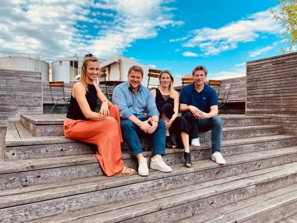 "Das ""cheers""-Team: Kathrin Lenz, Martin-Eicher, Nadine Rigele und Christoph Aichinger (v.l.).Towa"