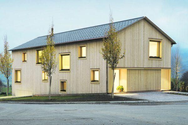 Das Haus der Familie Riedmann ist für den Vorarlberger Holzbaupreis 2021 nominiert.Imanuel Schnabel