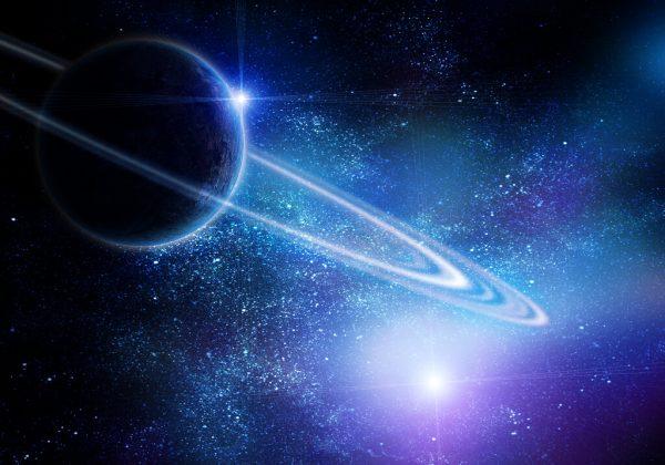 Der Saturnring ist ein sehr dünnes Gebilde. Shutterstock
