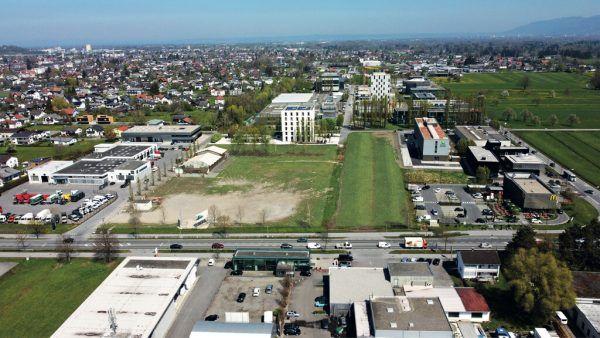 Die freien Flächen im Zentrum des Luftbildes sollen bis 2035 vollständig entwickelt werden.Prisma