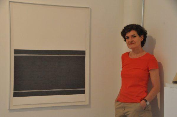 Doris Fend mit ihrem Werk.Wolfgang ölz
