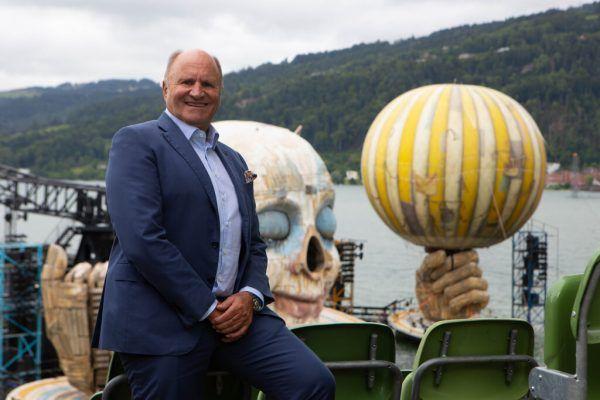 Hans-Peter Metzler auf der Seebühne, die er seit jungen Jahren kennt. Klaus hartinger