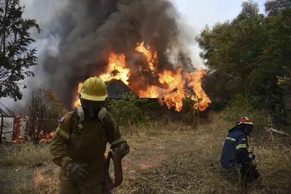 Italien, Griechenland und die Türkei werden von schweren Waldbränden heimgesucht. AP