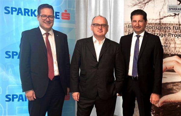 Martin Jäger, Bernd Spalt und Harald Giesinger sprachen über die Pandemie und die Zukunftsaussichten.SParkasse, Hartinger