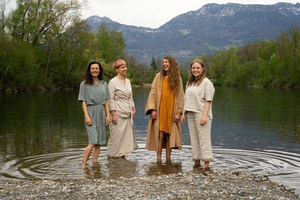 Martina Feichtinger, Conni Holzer, Verena Wohlrab und Nina Lyne Gangl (v.l.) haben die Stationen gestaltet. Aurelia Bösch