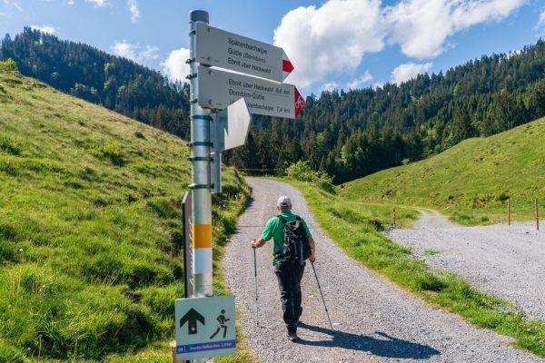 Wanderweg bei Hohenems Schuttannen.Stiplovsek