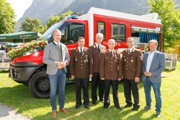 Bei der offiziellen Einweihung des neuen Fahrzeugs.VLK/Hofmeister