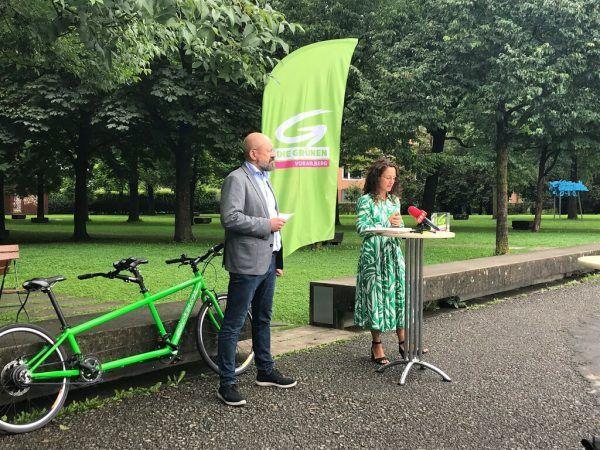 Bernie Weber und Eva Hammerer. Grüne Vorarlberg