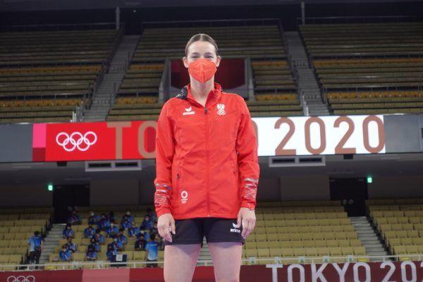 Bettina Plank bei der Besichtigung der Kampfstätte, dem Nippon Budokan.Ewald Roth
