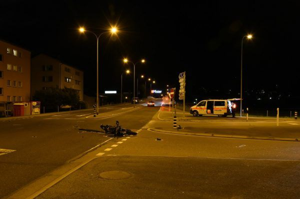 Das Motorrad wurde beschädigt.KP ST. Gallen