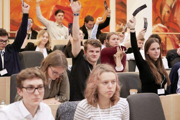 Das Schülerparlament im Jahr 2019. Parlamentsdirektion/Thomas Topf