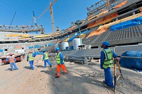 Die Arbeiter sollen unter lebensgefährlichen Bedin-gungen ausgebeutet worden sein.AFP/ Cacace