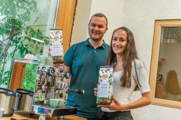 Die beiden Start-up-Gründer Sebastian Hilbe und Rebekka Lorenz.Stiplovsek (4)