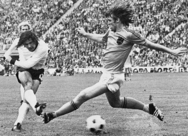 Gerd Müllers Siegtor im WM-Finale 1974.AFP