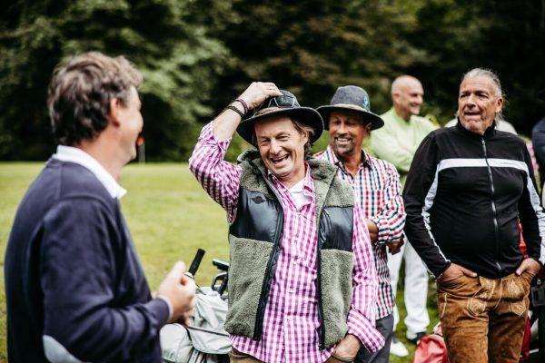 Impressionen von der gestrigen Golmer Cross Golf Charity auf der Anlage vom Golfclub Montafon in Schruns. Oben: Rainer Salzgeber, Hanno Egger und Mario Weger, links unten Marc Girardelli mit Frau Andrea. GEPA/Lerch (2)