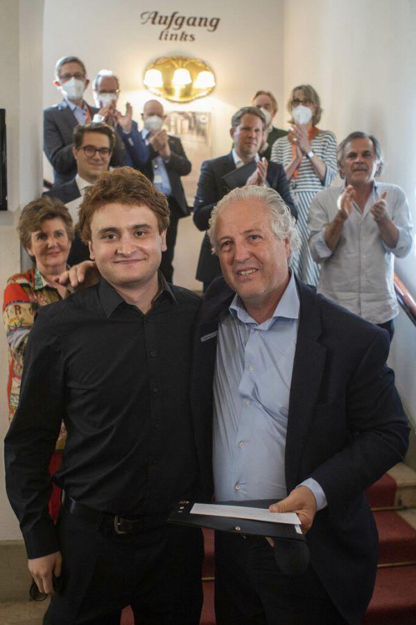 Joel Sandelson (l.) mit Manfred Honeck.Marco Borelli