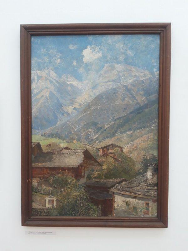 Landschaftsbilder und Porträts von Jakob Jehly. Kleines Bild unten: der Maler um 1885.Kammann (2)/Stadt Bludenz (1)