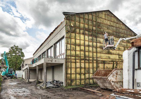 Mit den Vorbereitungen für den Neubau wurde bereits begonnen. gemeinde Lustenau/Lukas Hämmerle