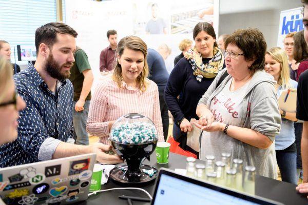 Startups finden in Vorarlberg gute Bedingungen vor, wie hier bei der Jobmesse der FH in Dornbirn.Rhomberg