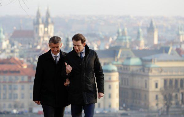 Bundeskanzler Sebastian Kurz mit Andrej Babis. Reuters