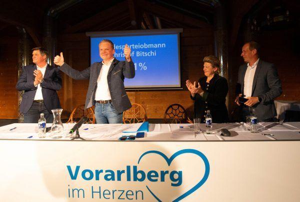 Daumen hoch: Christof Bitschi. Klaus Hartinger