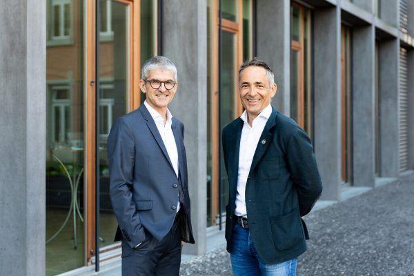 Die Geschäftsführer Ernst Thurnher (links) und Hubert Rhomberg.Rhomberg Gruppe, Stiplovsek