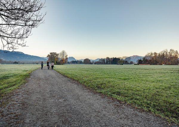 Die Trasse der CP-Variante der S 18 führt am östlichen Ortsrand entlang.MarktGemeinde Lustenau/Lukas Hämmerle