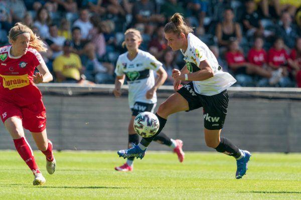 Die zwei besten Spielerinnen der SPG Altach/Vorderland: Links die zweifache Torschützin Viktoria Pinther, oben die unermüdliche Antreiberin Julia Kofler. Stiplovsek (2), Verein (1)