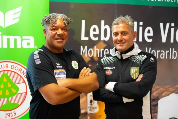Eric Orie (l.) und Markus Mader stellen sich schon auf das Derby am Freitag ein. hartinger